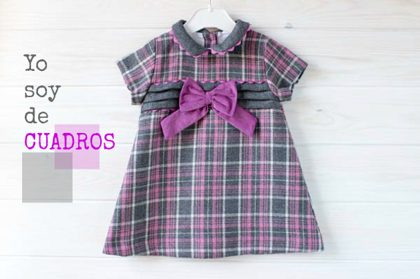 fdb0c6b67cc55 Vestidos de Cuadros para niñas modernas - BabyNipos