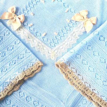 toquilla baby love azul y perla-