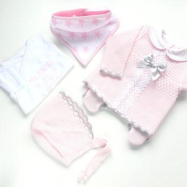 pack mis primeros besos rosa-