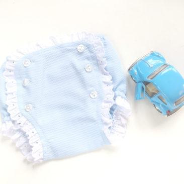 cubrepañal azul-