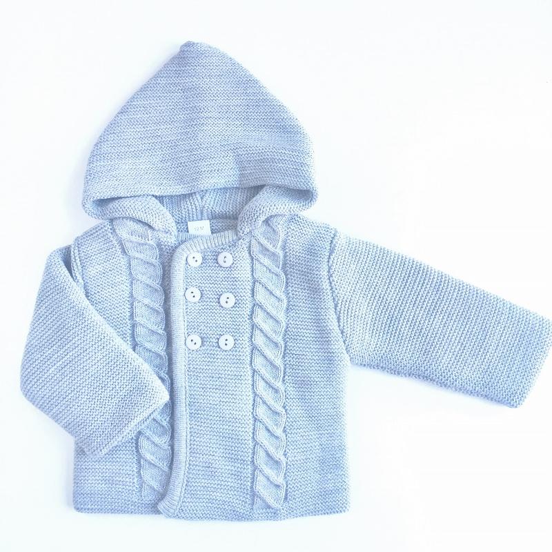 abrigo gris-