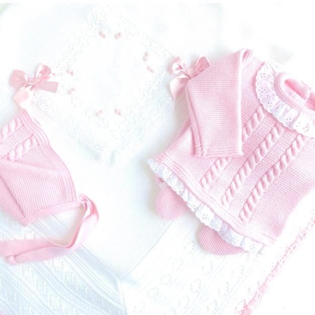 pack baby culotte blanco y rosa bebe