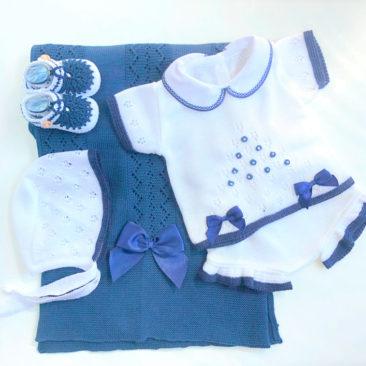 Pack Baby Horus Blanco y Azul Marino