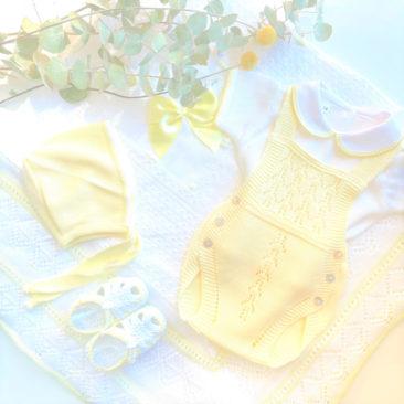 Pack Ranita Perlé Amarillo Bebé