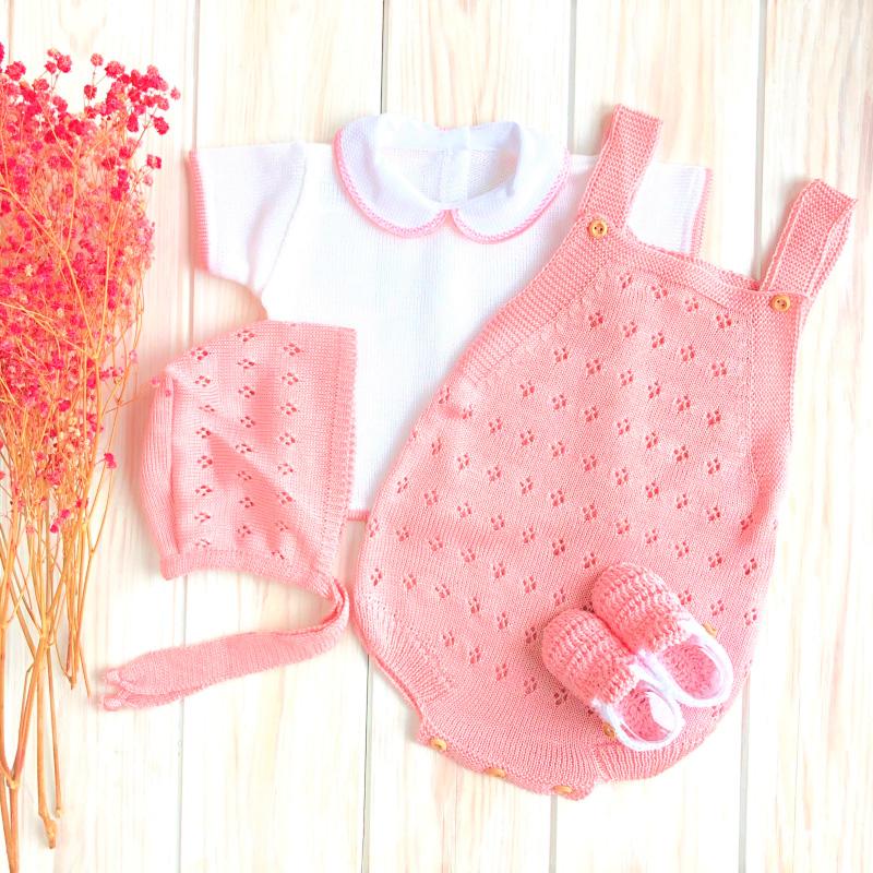 Ranita cerezas rosa empolvado