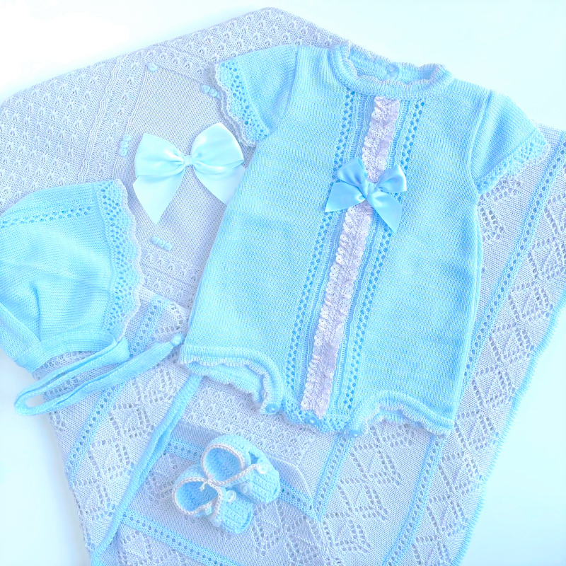 Pack Baby Lazo Azul y Gris