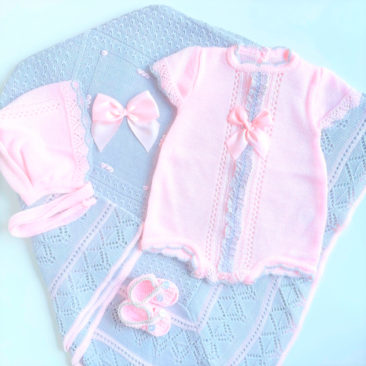 Pack Baby Lazo Rosa y Gris