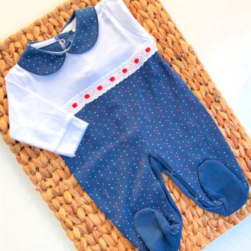 Pijama Topitos Azul Marino