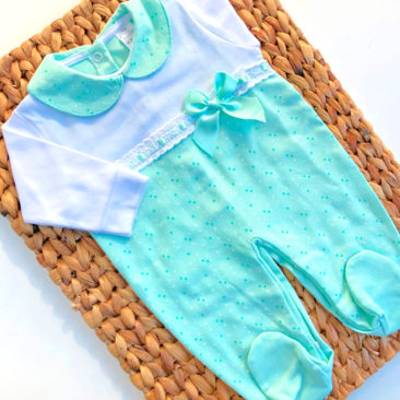 Pijama Topitos Verde Agua