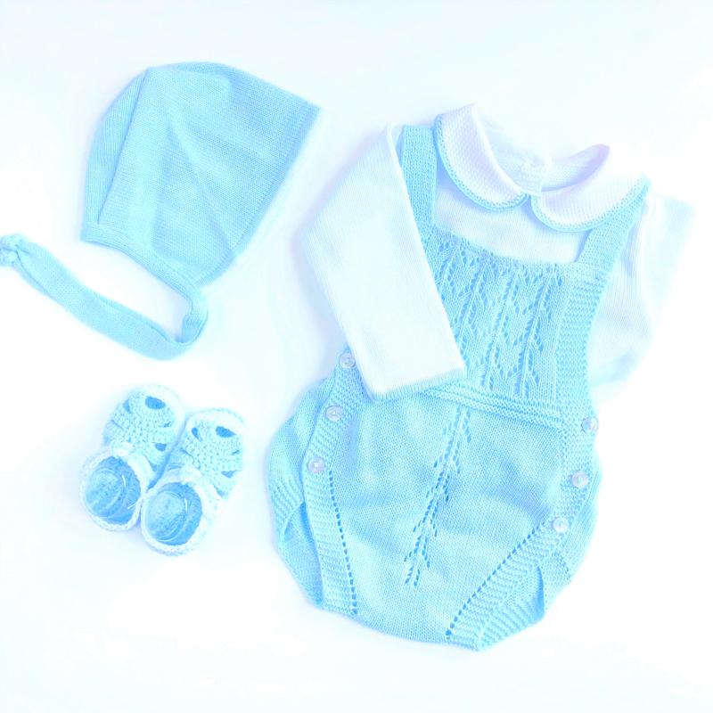 Ranita Azul Bebé con Capota y Patucos